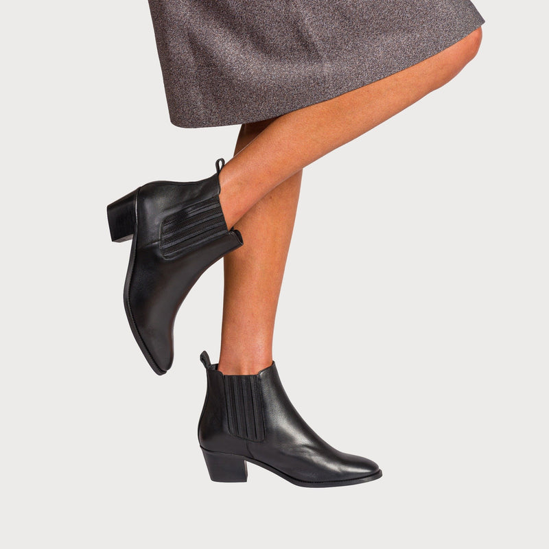 bunions chelsea boots black leather stylish comfortable