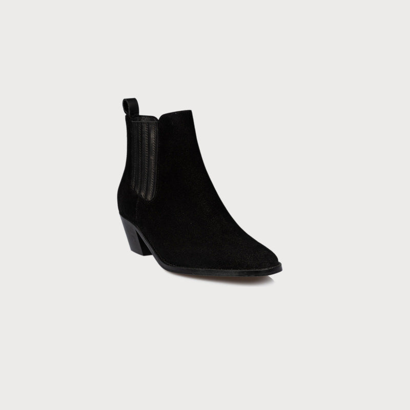 wide feet bunions shoes black suede heeled boots