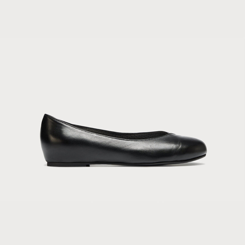 leather black flat shoes bunions wide feet comfort style