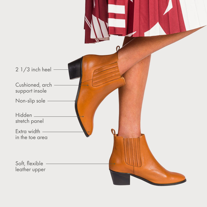 calla boots explained with arrows pointing to features