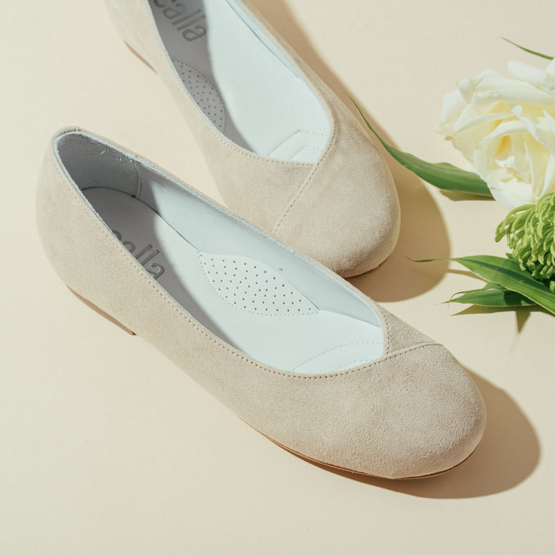 beige flats for bunions