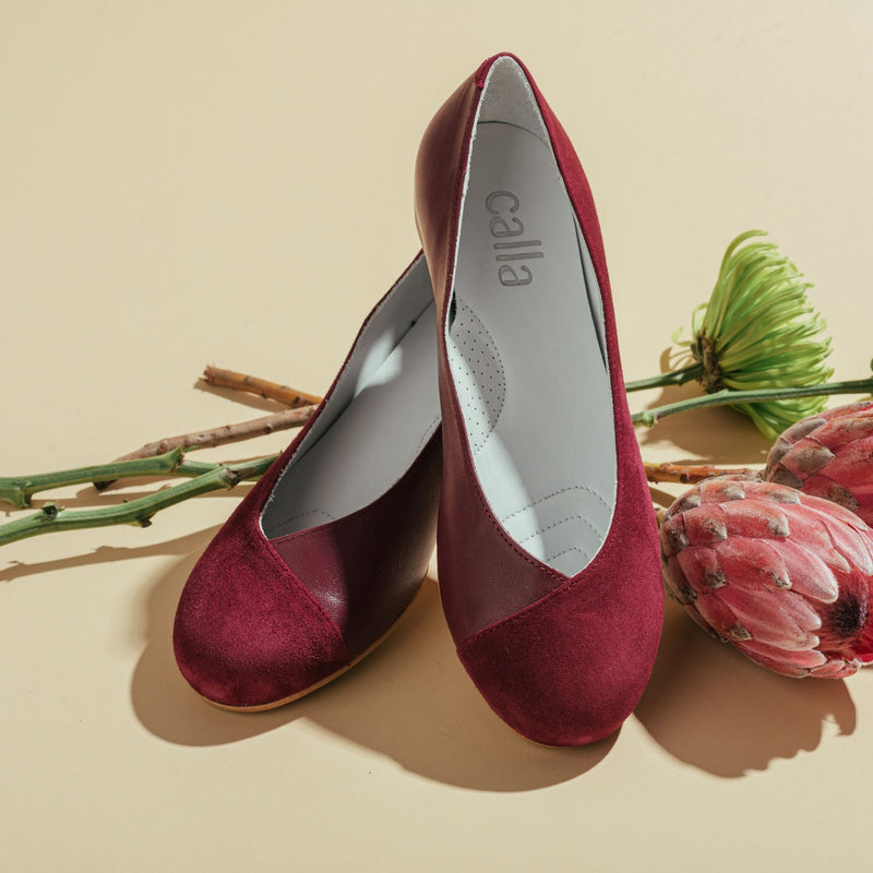 plum flats for bunions