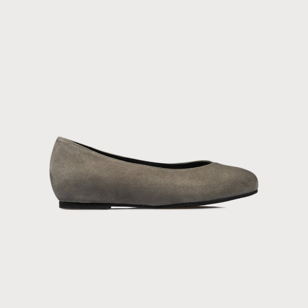 grey suede flat shoes bunions wide feet comfort style