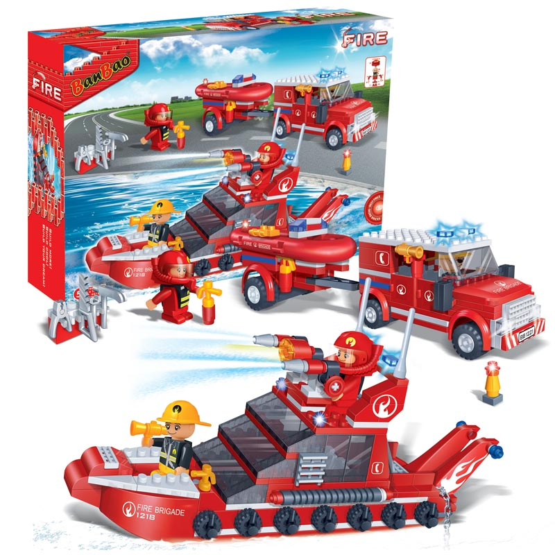 Fire Car And Boat Set