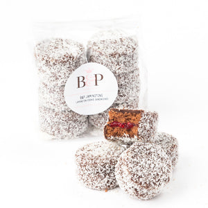 B&P Jamingtons - Lamington cookie sandwiches