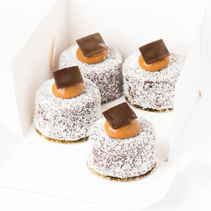 Salted Caramel Lamingtons (Box of 4)