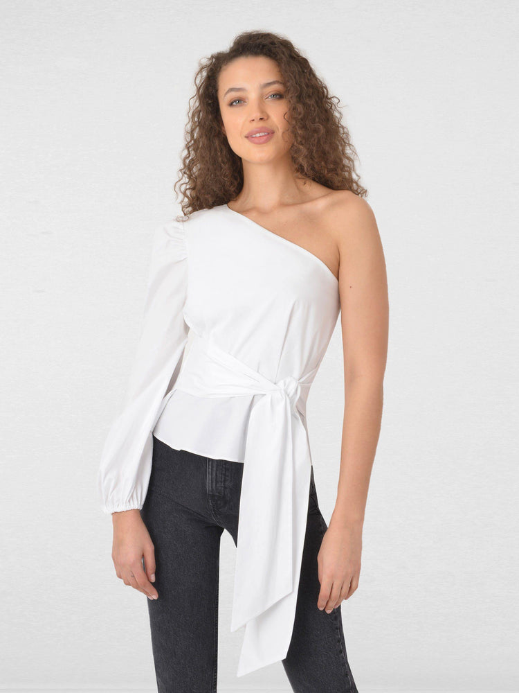 One Shoulder Cotton Top