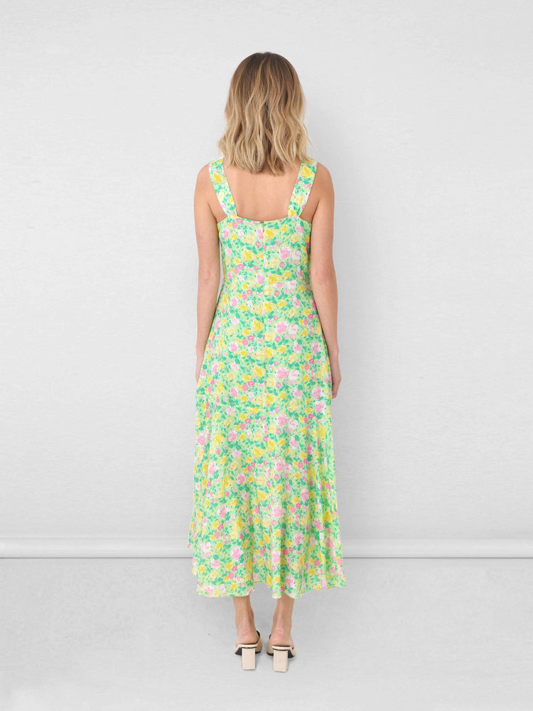 Lurex Floral Wrap Dress