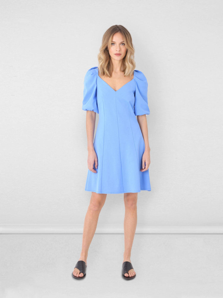 Jersey Puff Sleeve Dress