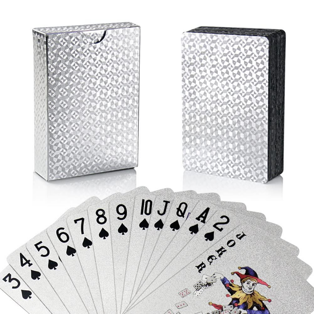 Gold/Silver-Plated Waterproof Playing Cards - Thankify - Fun, Innovative, Practical Products