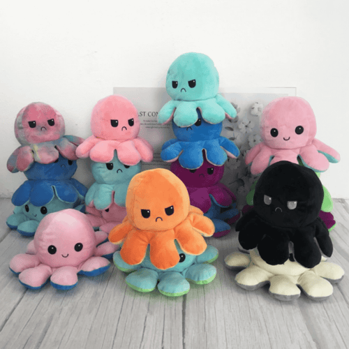 Emotopus™ - Reversible Emotion Revealing Octopus Plush Toy - Thankify - Fun, Innovative, Practical Products