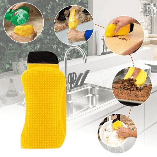 MagicSponge™ - 3-in-1 Cleaning Silicone Sponge with Scraper (3pcs) - Thankify - Fun, Innovative, Practical Products
