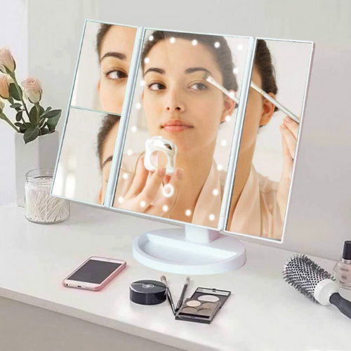 LEDMirrorPro™ - Portable Trifold, 22 LED-Lighted, 10X Magnifying Vanity Mirror - Thankify - Fun, Innovative, Practical Products
