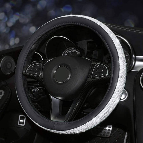 Luxurious Swarovski-Like Crystal Car Interior Cover (Steering Wheel, Gear Knob, Handbrake, Seatbelt) - Thankify - Fun, Innovative, Practical Products
