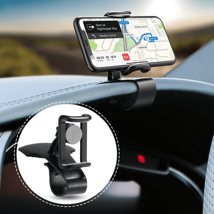 DashMount™ - 360° Car Dashboard Phone Clip Holder Cradle - Thankify - Fun, Innovative, Practical Products
