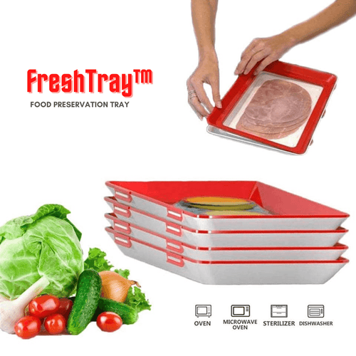 FreshTray™ - Reusable, Stackable Food Preservation Tray - Thankify - Fun, Innovative, Practical Products