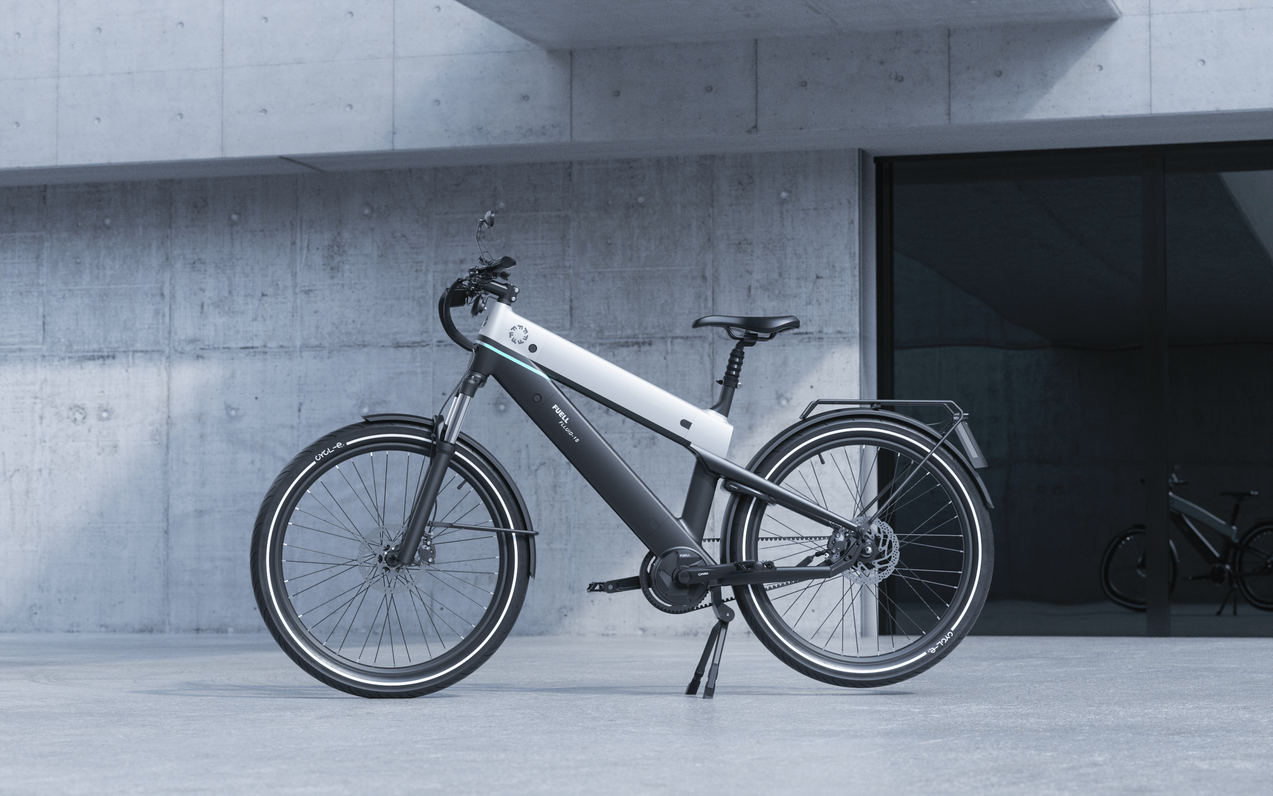 Flluid ebike by Fuell in Silver Color