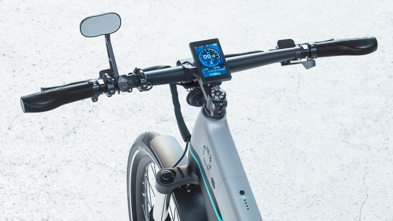 Dashboard of Flluid ebike by Fuell