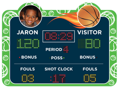Green Basketball Scoreboard