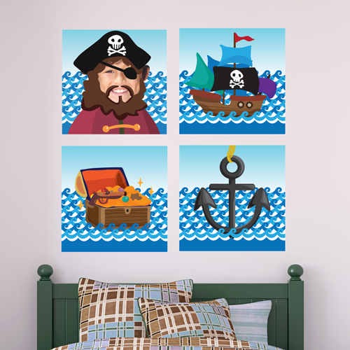 Ahoy Matey Room Squares