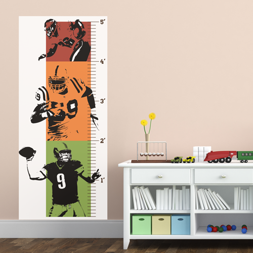 American Football Room Growth Chart