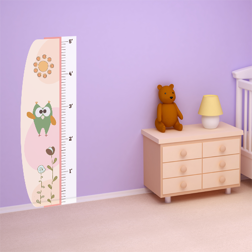 Baby Hears A Hoo Room Growth Chart