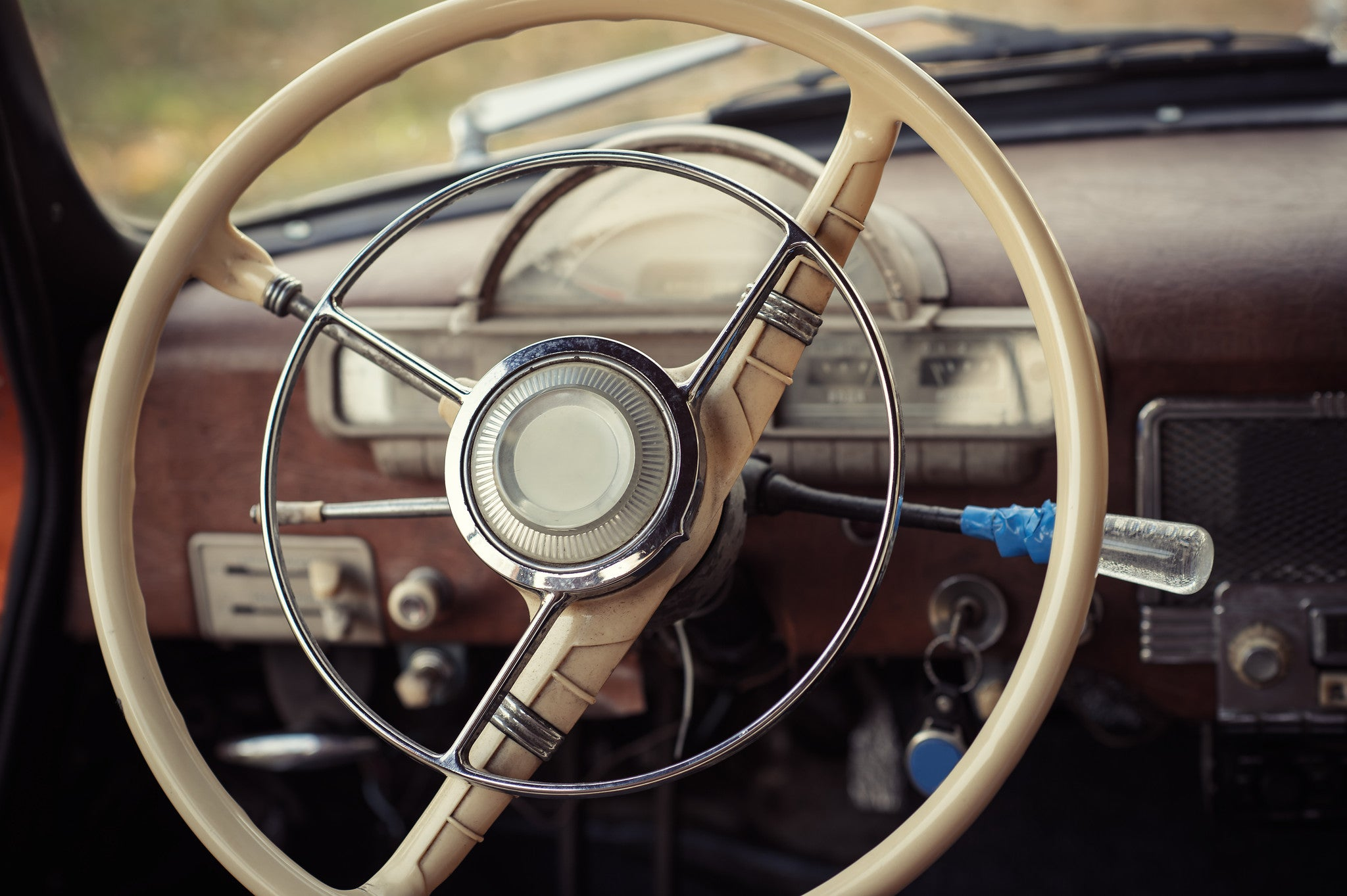 Steering A Retro Car