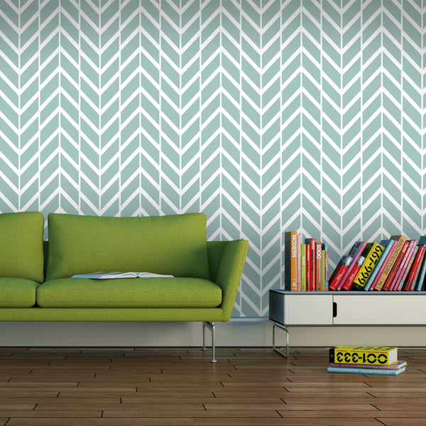 GREEN GRAY CHEVRON