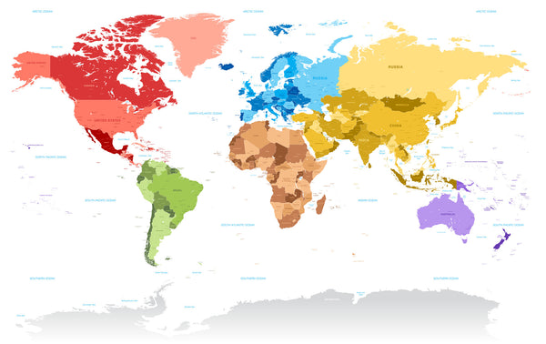 Continental Divide World Map