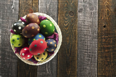 Easter Eggs with Polka Dots