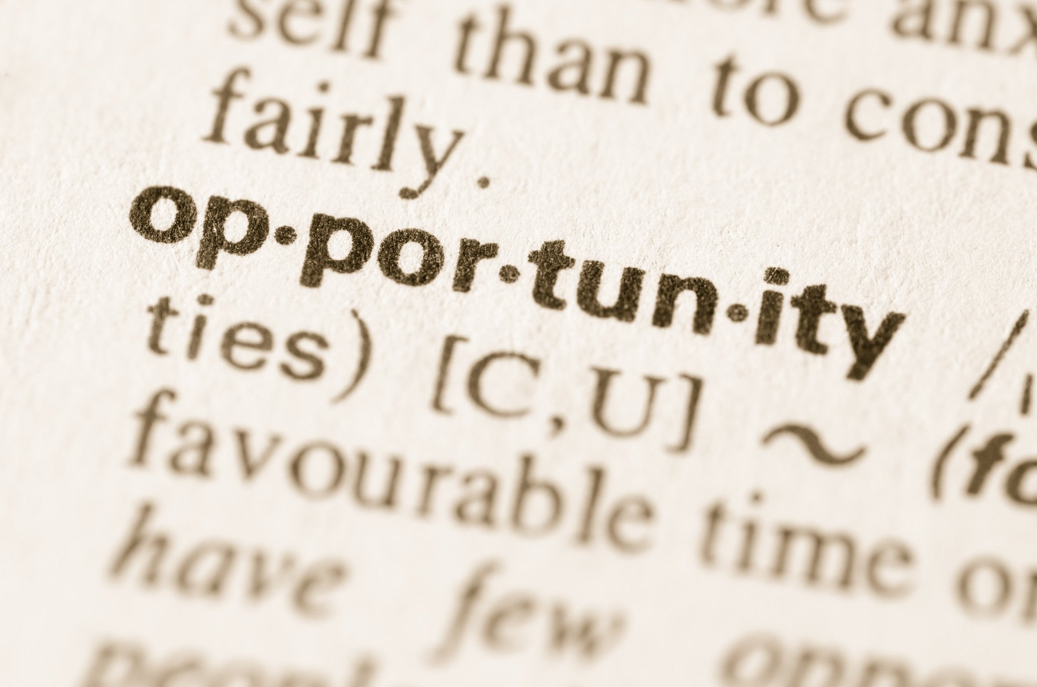 Opportunity Defined