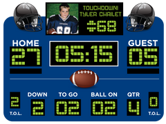 Blue Football Scoreboard