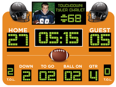 Orange Football Scoreboard