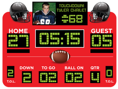 Red Football Scoreboard