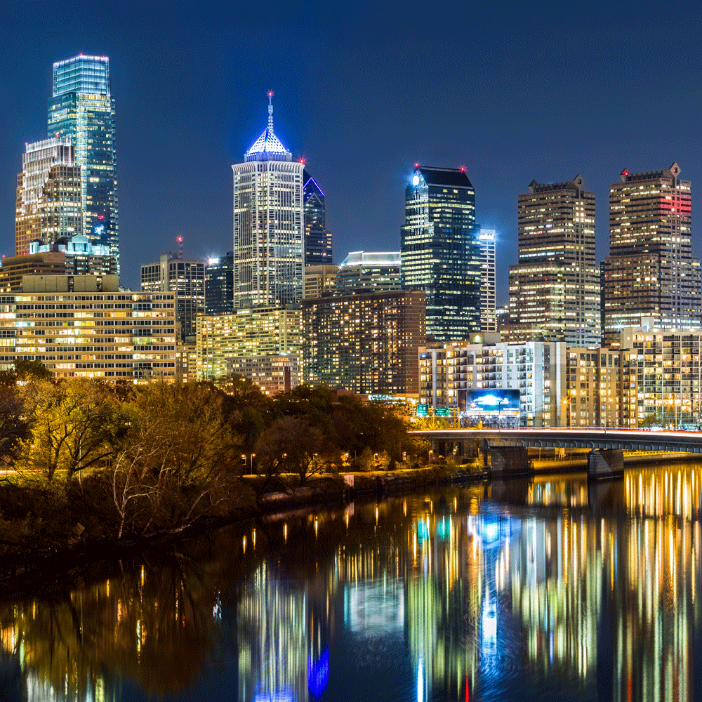 Philadelphia Cityscape by Night