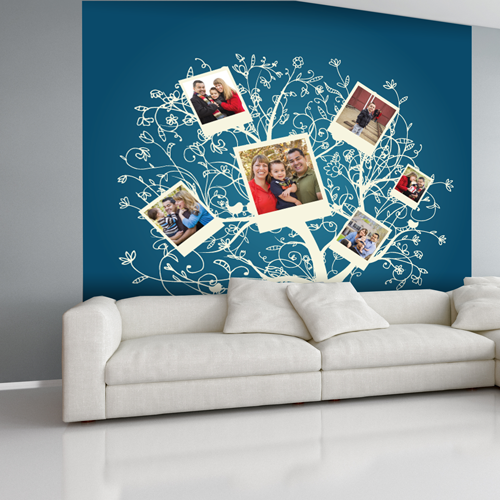 Blue Family Tree Room Square