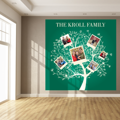Green Family Tree Room Square