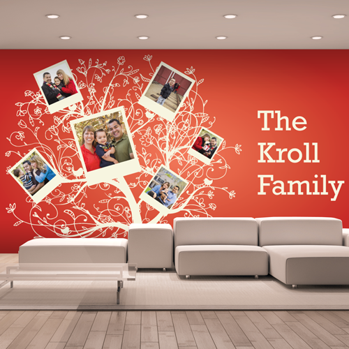 Red Family Tree Room Landscape