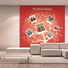 Red Family Tree Room Square