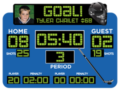 Blue Hockey Scoreboard
