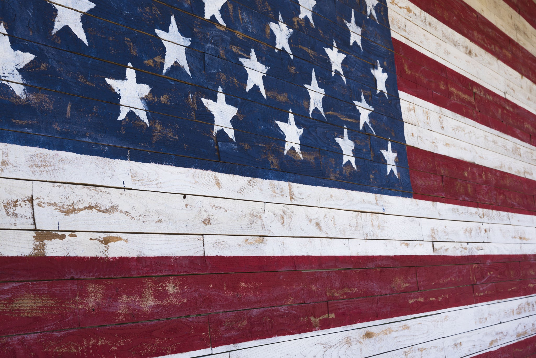 Fourth of July Sweet Suprise Wooden Flag