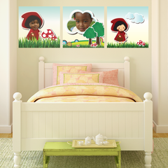 Little Red Riding Hood Room Squares