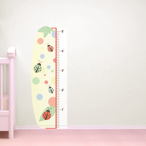 Lovely Lady Bugs Room Growth Chart
