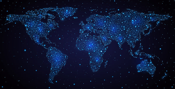 Night sky world map wallsome night sky world map gumiabroncs Gallery