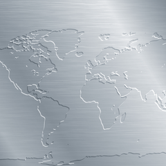 Stainless Steel Map