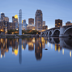 Minneapolis at Sundown