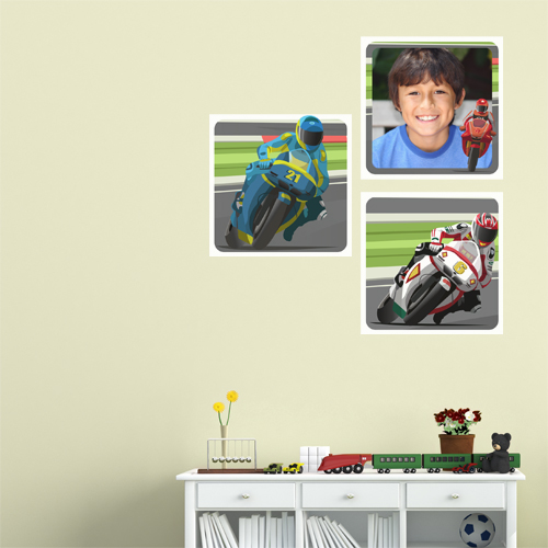 Moto Racer Room Squares