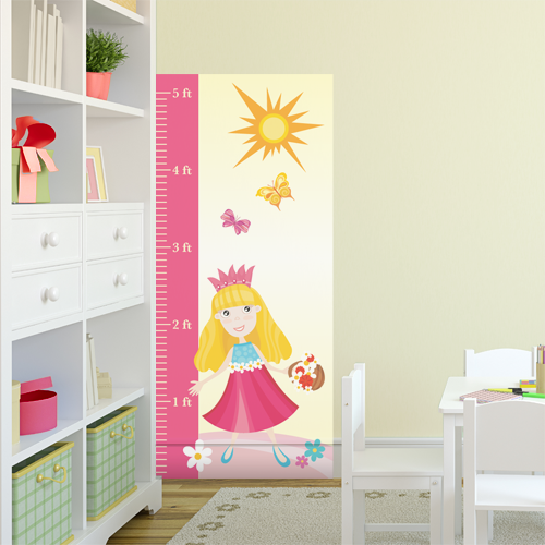 Pretty Princess (Pink) Room Growth Chart