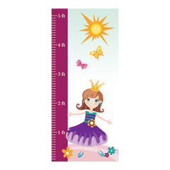 Pretty Princess (Purple) Room Growth Chart