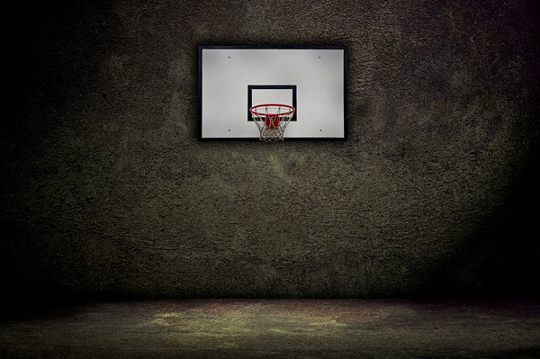 Basketball Hoop in the Shadows